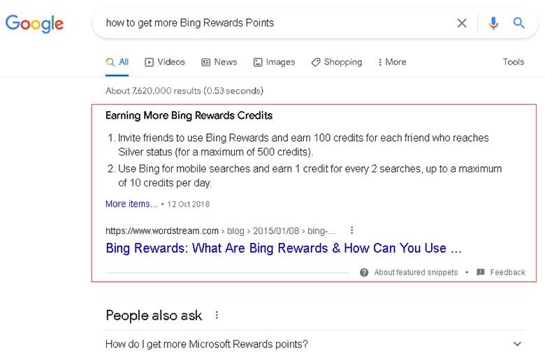 Google摘要展现形式